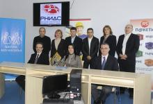 RNIDS and UNICEF handing the donation in personal computers 14/12/2011